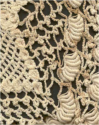Crocheting Into Fabric : crochet fabric is created by pulling one loop of yarn through ...